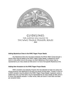 Guidelines for Prayer Beads 2005