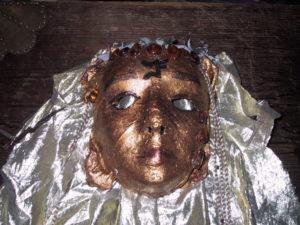 Gold Freyja mask